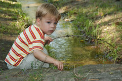leka vatten Arkivbilder
