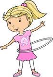 leka vektor för flicka stock illustrationer