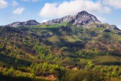 Lekanda mountain peak in Gorbea Stock Photo