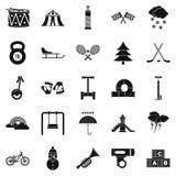 Lekar för barnsymboler ställde in, enkel stil stock illustrationer
