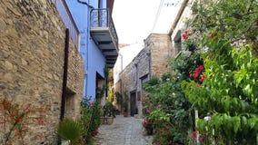 Lekara un vieux village traditionnel en Chypre, une destination populaire de voyage des millions de touristes de partout dans le  Image stock