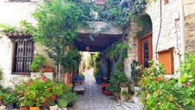 Lekara un vieux village traditionnel en Chypre, une destination populaire de voyage des millions de touristes de partout dans le  Image libre de droits