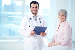 Lekarka i pacjent Fotografia Royalty Free