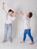 Lekarka i pacjent, childs sztuka Zdjęcie Royalty Free