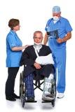 lekarka odizolowywający pielęgniarki pacjent fotografia royalty free