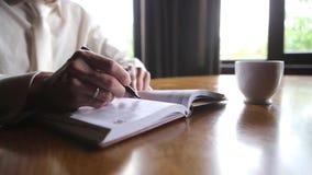 Lekarka Pisze w jego Biznesowym blogu zdjęcie wideo