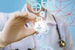 Lekarka stawia ikonę lekarka mechanizm Obrazy Stock