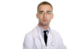 Lekarka w glassess Obraz Royalty Free