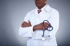 Lekarka z stetoskopem Zdjęcie Royalty Free