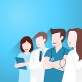 Lekarki grupują, Szczęśliwy zaopatrzenie medyczne ilustracja wektor
