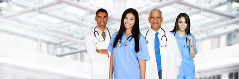 Lekarki i pielęgniarki obrazy stock