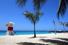 Lekarki jamy plaża, Montego Bay, Jamajka zdjęcia stock