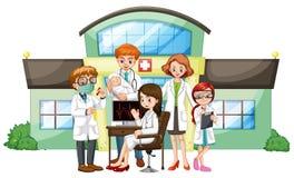 Lekarki pracuje w szpitalu royalty ilustracja