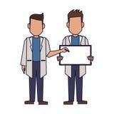 Lekarki z puste miejsce znakiem royalty ilustracja