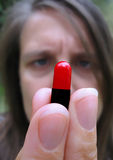 lekarstwa pigułki zabranie Zdjęcie Stock