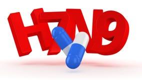 Lekarstwo dla ptasiej grypy Zdjęcia Royalty Free