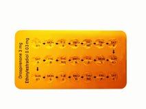 Lekarstwo i opieki zdrowotnej pojęcie Oralnego antykoncepcyjny lek 21 y obraz royalty free