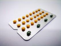 Lekarstwo i opieki zdrowotnej pojęcie Oralnego antykoncepcyjny lek 24 y fotografia royalty free