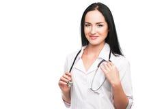 Lekarz medycyny kobieta z stetoskopem fotografia stock
