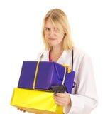 Lekarz medycyny z prezentami Obraz Royalty Free