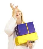Lekarz medycyny z prezentami Fotografia Stock