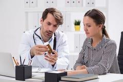 lekarze odosobnione pigułki Obraz Stock