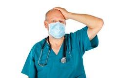 lekarze tła pojedynczy biały się martwić Fotografia Royalty Free