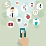 Lekarzi medycyny i ikona Zdjęcie Royalty Free