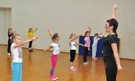 Lekcja fizyczna edukacja w stopień szkole liczba 279 fourth Obrazy Royalty Free
