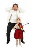 lekcja skrzypce. Obrazy Royalty Free