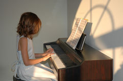 lekcje fortepianowe Obrazy Stock