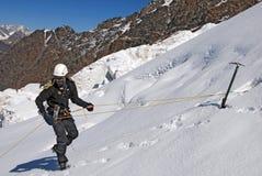 Lekcje na mountaineering Zdjęcia Stock