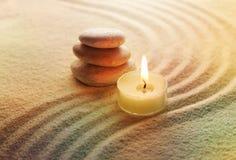 lekcy świeczka kamienie Zdjęcie Royalty Free