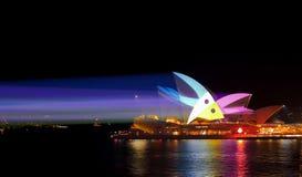 Lekcy promienie i Sydney opera Żywy Sydney Fotografia Stock