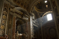 lekcy promienie Vatican Zdjęcia Stock