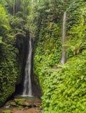 Leke Leke waterfall in Bali island Indonesia.  royalty free stock photography