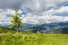 Leke in the mountains. Vidra lake in the Lotru mountains The Southern Carpathians -Romania stock image