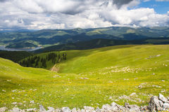 Leke in the mountains. Vidra lake in the Lotru mountains The Southern Carpathians -Romania royalty free stock photo