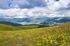 Leke in the mountains. Vidra lake in the Lotru mountains The Southern Carpathians -Romania stock photo