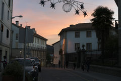 Lekeitio στο ηλιοβασίλεμα Στοκ φωτογραφία με δικαίωμα ελεύθερης χρήσης