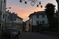 Lekeitio bei Sonnenuntergang Lizenzfreies Stockfoto
