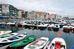 Lekeitio Harbor. LEKEITIO, SPAIN - JULY 4, 2013: Lekeitio (Spanish: Lequeitio) is a town and municipality located in the province of Biscay, in the Spanish Royalty Free Stock Photography