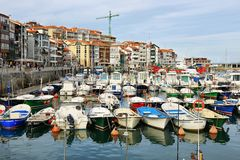 Beautiful fishing village of lekeitio in basque country, Spain royalty free stock photos