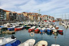 Beautiful fishing village of lekeitio in basque country, Spain stock photography