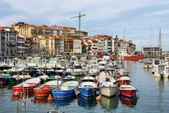Beautiful fishing village of lekeitio in basque country, Spain royalty free stock photo