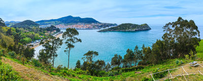 Lekeitio town coastline, Biscay, Spain. Stock Image