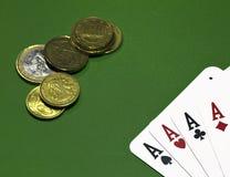 Leken av poker Royaltyfria Foton