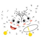 Leken av pricker, sätta en klocka på Royaltyfria Foton