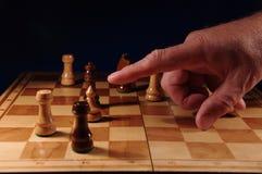 Leken av schack. Royaltyfri Fotografi