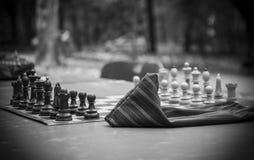 Leken av schacket royaltyfri foto